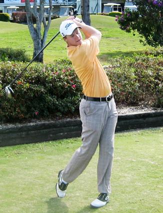 Damon Welsford shows his winning form.