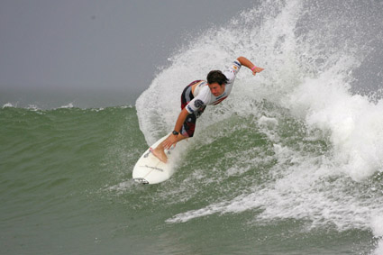 Winning wave ... Local surfer Sean Cansdell scored a massive win in the event in France over the weekend.