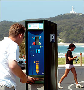PAY UP: Paying for parking at  main beach  in Byron Bay. Motorists will only cop a fine if they do the wrong thing, according t
