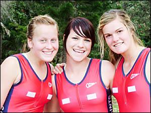 TOP TRIO: Ballina netballers Ally Koellner (left), Brittany McLeod and Lauren Bryant.