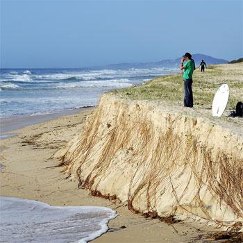 Erosion takes its toll on Sunshine Beach. Photo: Geoff Potter