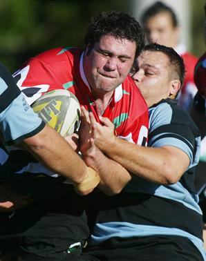 BAA Baas and Ballina rugby teams in action this season.