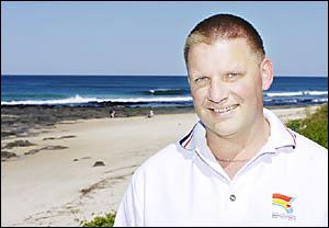 BEACH WATCHER: Northern NSW Life Saving co-ordinator Stephen Leahy at Shelly Beach, Ballina. Picture: DAVID NIELSEN