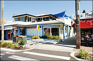 HE LOOKED LIKE A GOOSE: The Lennox Head Pharmacy, which was held up by a gun-wielding man wearing a balaclava on Wednesday af