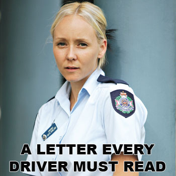 Constable Anita Rowland, whose son was killed and his brother paralysed in an horrific car accident, pleads for sanity on the roads. Photo: Brett Wortman