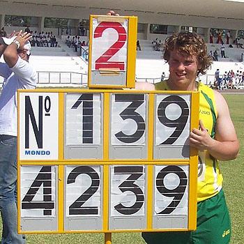 Lindsay Sutton: smashing records in Brazil.