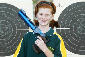 Crystal Crekk's Heaven-Leigh Walters has her sights set on improving her pistol-shooting skills.