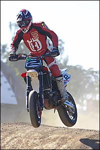 FLYING HIGH: Rebecca Bateman in action.