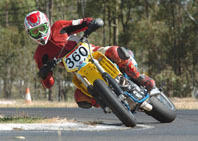 Mathew Buckley is aiming for a clean sweep in this weekends SsangYong Australian Supermoto Championship. SUBMITTED