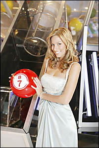 RENEE BARGH, 22, is co-hosting Channel Sevens National Bingo Night.
