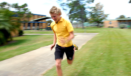 Wade OMalleys athletics results continue to improve at an astonishing rate. CHRIS RIX