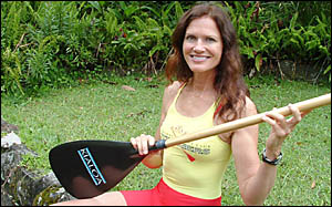 Linda Whitehurst heads back to the water this weekend after fighting off a Great White Shark at Byron Bay last month.