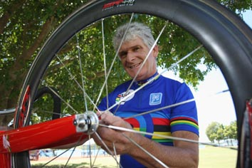 Cyclist Ron Boyle recently won four gold medals at the World Masters Track Cycling Championships.