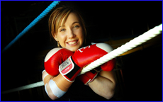 READY TO FIGHT: Gladstone boxer Emma Carruthers would love to step into an Olympic boxing ring.