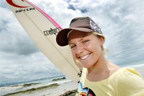 Stephanie Gilmore heading to Hawaii and hopefully a world title.