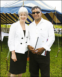 HISTORIC AGREEMENT: Federal Court Justice Catherine Branson travelled to Woodenbong for a ceremony recognising Native Title rig
