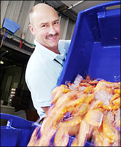 PRAWNS APLENTY: Rob Moir from the Northern Rivers Seafoods promises there will be plenty of local prawns available over the Chr