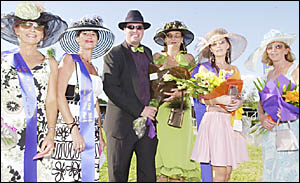 FASHION EXTRAVAGANZA: People love dressing up for the Lismore Cup, as this  file picture shows. This year fascinators are expec
