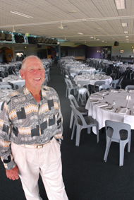 Merv Mercer surveys the auditorium at the race club that has been named in his honour. PHOTO: TREVOR VEALE
