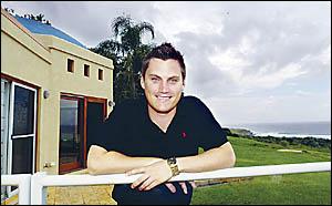 PRD Nationwide Lennox Head Principal Brett Jones at a Boulder Beach property that sold for $2.6 million.