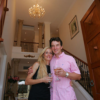 Nick and Jane DeCourtney-Collis, the owners of Point Cartwright Manor in Akounah Crescent, Buddina. Photo: Brett Wortman