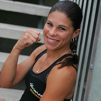 Shamrock boxer Monika Siemonek, of Maroochydore, won the Australian amateur boxing title.  Photo: Brett Wortman/bw171121g