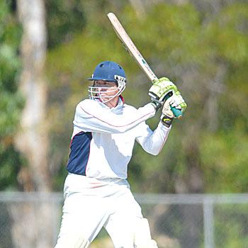 Maroochydore batsman Shane Rynne in action against Caboolture. Photo: Warren Lynam