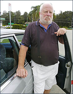 Warren Scanlon, of Ballina, is unhappy with the fine handed down to Ballina Petroleum boss, Santo Pennisi, after scamming fuel