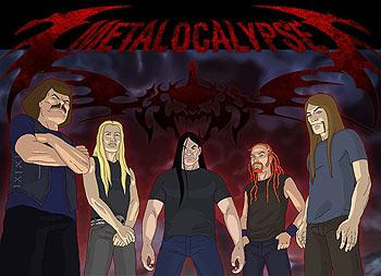 Dethklok: stars of Adult Swim's Metalocalypse