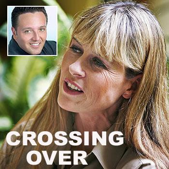 Terri Irwin, wife of the late 'Crocodile Hunter', says psychic medium John Edward, inset, has a unique ability.