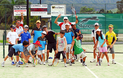 Get in quick ... The Harbour Tennis Academy summer camps resume on January 7, 2008. PHOTO: TREVOR VEALE