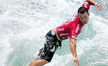 Maroochydore's Mitch Coleborn leads the Australian team at the Billabong World Junior Championships.