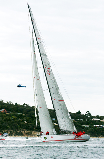 Not coming to Coffs ... super maxi yacht Wild Oats.