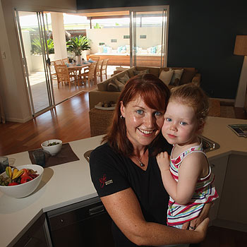 Claire Robertson with daughter Samara in the family's