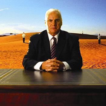 Aussie lamb ambassador Sam Kekovich in his 2008