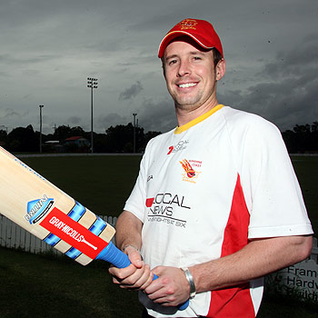 New recruit Paul Horton is going in to bat for the Suncoast Scorchers. Photo: Jason Dougherty/ 172104a