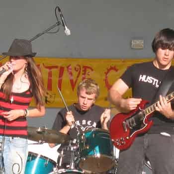 Music Camp 2007, band Zaar in action.