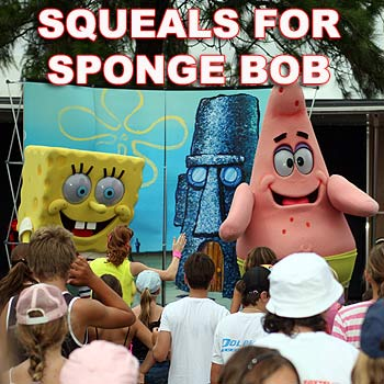 Nickelodeon took over Cotton Tree Park entertaining young and old with favourites like Sponge Bob and Partic the starfish.