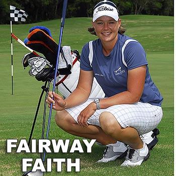 Sunrise Beach golfer Katherine Hull hasn't let international success go to her head. Photo: Geoff Potter/n19528