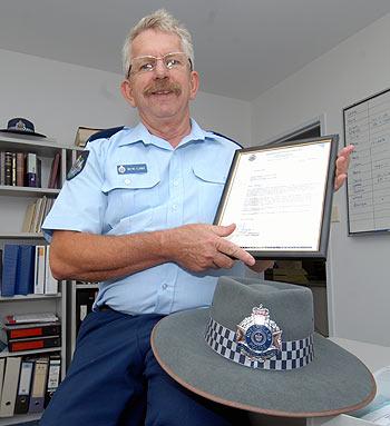 The Coast's Sgt Wayne Clark has been recognised as Qld's longest serving police prosecutor. Photo: Warren Lynam