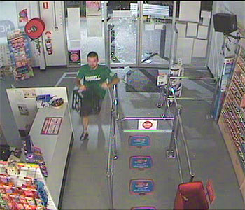 A security camera photo showing the break-in at the Healthy Pharmacy in Rothwell.