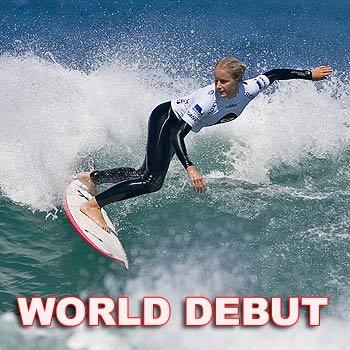 Sunshine Coast's Rebecca Oakley (Sunshine Beach) eliminated her Hawaiian opponents Coco Ho (Sunset Beach) and Gabi Cope (Kauai, Haw) today at the Roxy Surf Festival at Phillip Island, Victoria.