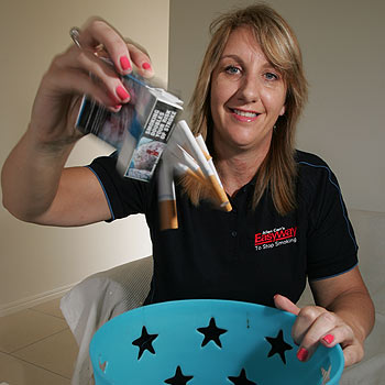 Caloundra's Tara Pickard-Clark quit smoking and is now a trainer, helping other people to kick the habit. Photo: Brett Wortman/bw172192e
