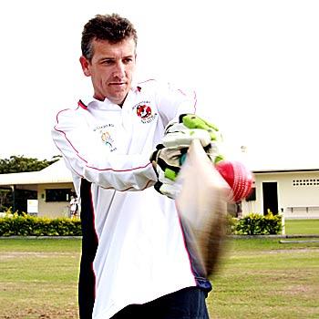 Batsman Shane Rynne is chacing 5000 runs with the Maroochydore Swans.