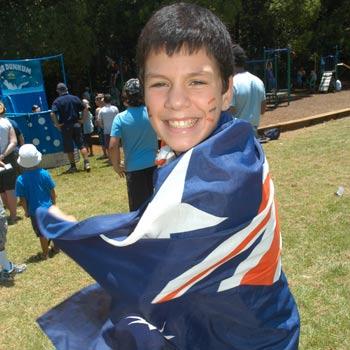 Antonio Borillo gets into the spirit at last year's Australia Day.