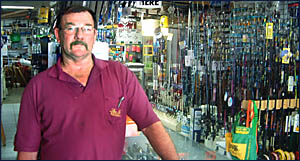 HARD SELL: Bruce Legge, owner of Daves Bait Shop in Ballina, has taken the shop off the market after the recent fish kill in t