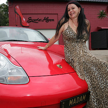 Scarlet Harem owner Paris Satine is selling up the business - including her Porsche Boxster with the personalised number plate