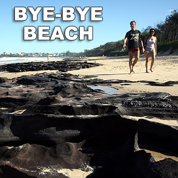 Maroochydore Beach is one of the Coast beaches which have suffered erosion. Photo: Michaela O'Neill