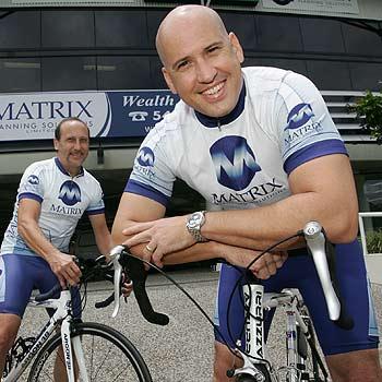 Brad Davies and Paul Castelli of Matrix Planning Solutions shape up.