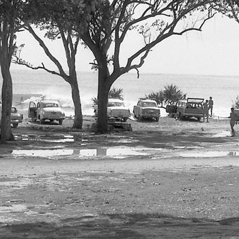 """The surf on the Gold Coast was out of control so we postponed the titles and a few of us went up to Noosa,"" Mal Sutherland explains about the day he shot this iconic photograph of Noosa National Park in 1964."